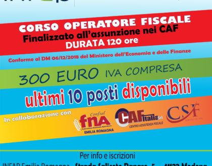 CORSO OPERATORE FISCALE Ed. 2019/2020 - ISCRIZIONI APERTE