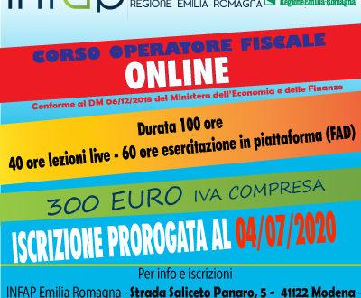 CORSO ON LINE OPERATORE FISCALE 100h