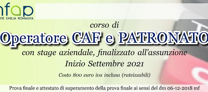 CORSO OPERATORE CAF E PATRONATO - ed. 2021/2022